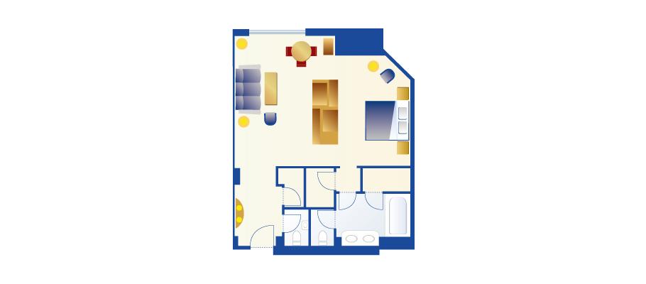 image of Palm Garden View Roomのレイアウト1