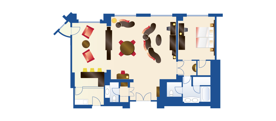 image of Mickey's Penthouse Suiteのレイアウト1