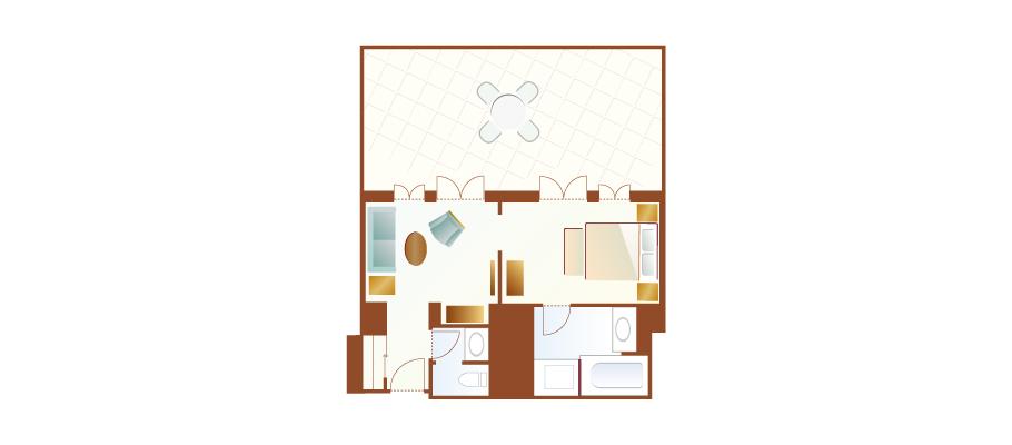 테라스 룸(하버 그랜드 뷰)のレイアウト1