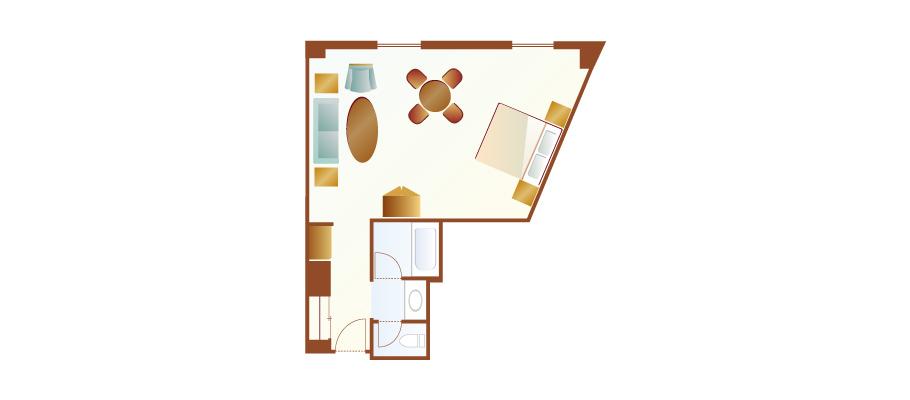 image of Harbor Room (Piazza View)のレイアウト1