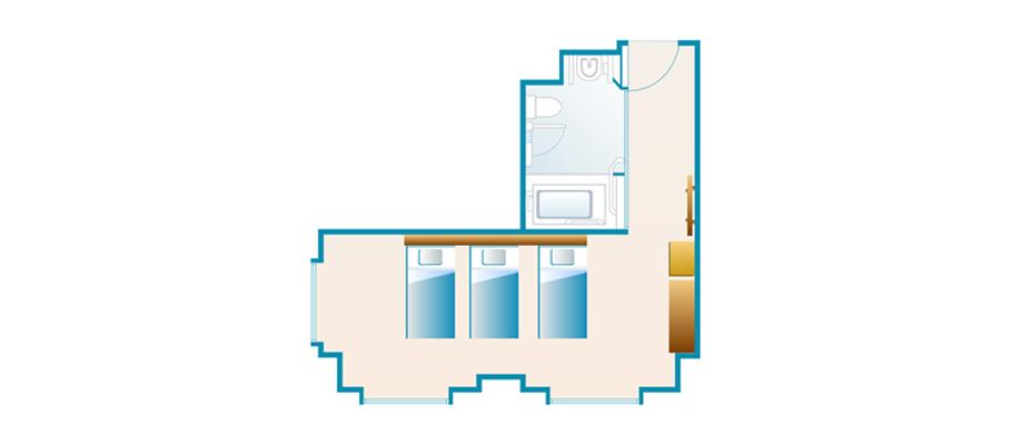 探索楼:无障碍客房のレイアウト1