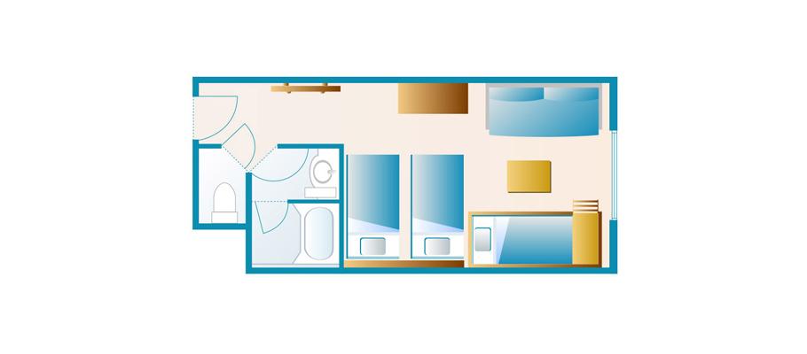 探索楼:五人客房のレイアウト1
