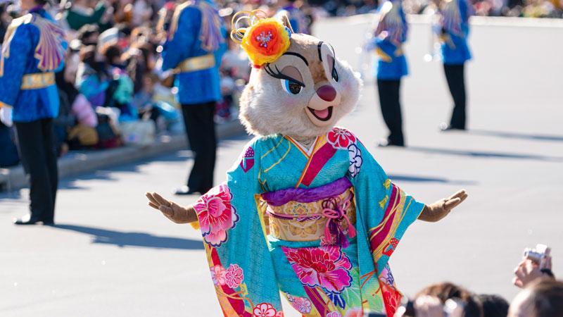 gambar Tahun Baru di Tokyo Disney Resort