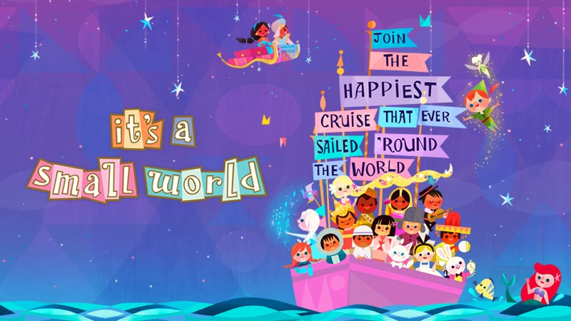 "gambar Wahana VERSI BARU ""it's a small world"""