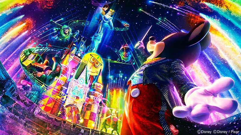 """gambar Pertunjukan Spektakuler Malam Hari """"Celebrate! Tokyo Disneyland"""""""