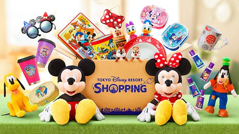 東京ディズニーリゾート・アプリのオンラインショッピングで人気のグッズのイメージ