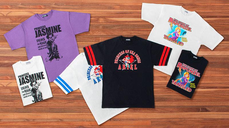 クールなディズニープリンセスがデザインされた<BR/>「ヒステリックグラマー」プロデュースのTシャツのイメージ