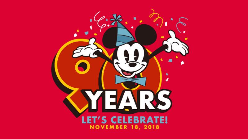 ミッキーのスクリーンデビュー90周年を記念したディズニーパークオリジナルグッズのイメージ