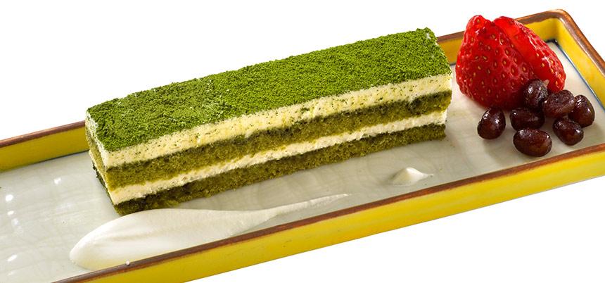 マスカルポーネクリームの抹茶ケーキのイメージ
