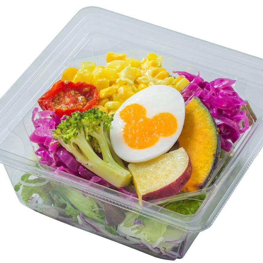 image of ローストベジタブルとエッグのサラダ、トマトオニオンドレッシング