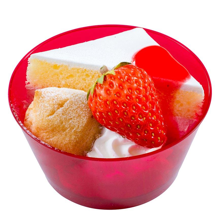 ストロベリークリームケーキ&プチシュークリームのイメージ
