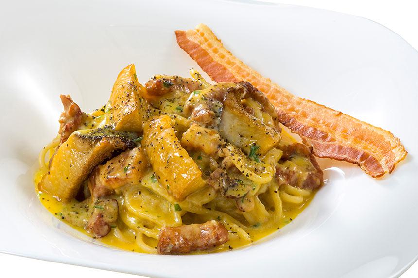 スパゲッティ・カルボナーラ(キノコ入り)のイメージ