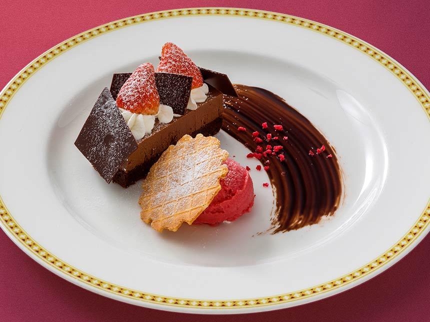 チョコレートムースケーキのイメージ