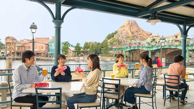 櫻花餐廳室外專賣區的圖像
