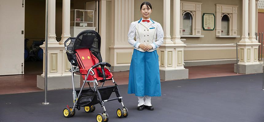 Official stroller wheelchair rentals tokyo disneyland for Motorized scooter rental disneyland