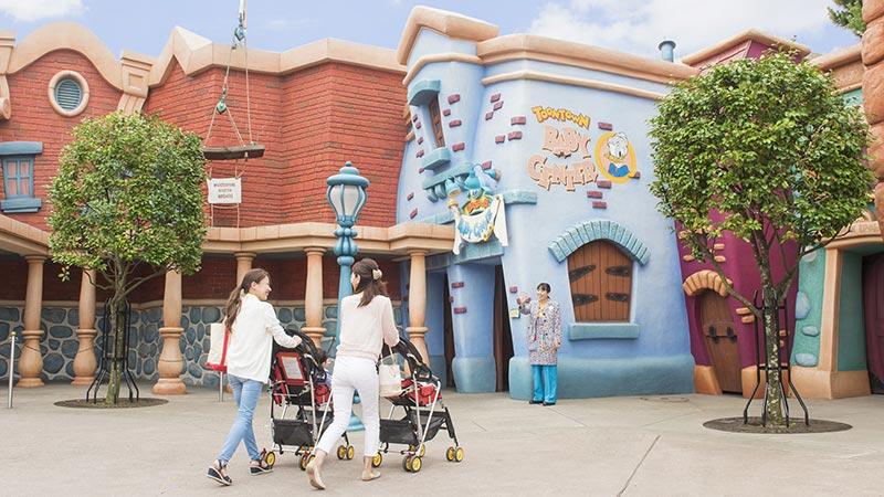 卡通城嬰兒中心的圖像