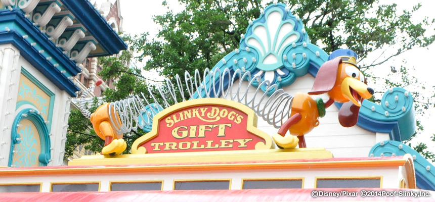 スリンキー・ドッグのギフトトロリーのイメージ2