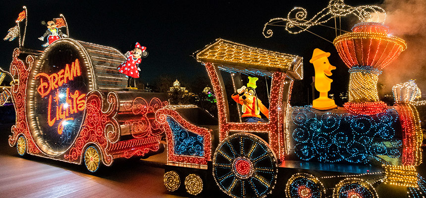 """夜间游行""""东京迪士尼乐园电子大游行~梦之光""""的图像1"""