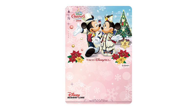 ディズニーリゾートラインでは、「ディズニー・クリスマス」デザインのフリーきっぷを販売中です。(2018年12月25日まで)のイメージ