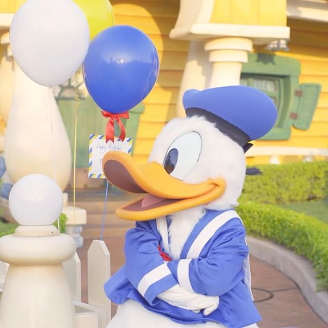 image of Donald's planned his own birthday celebration…みんなにお祝いしてもらえてよかったね♪#happybirthdaydonald...