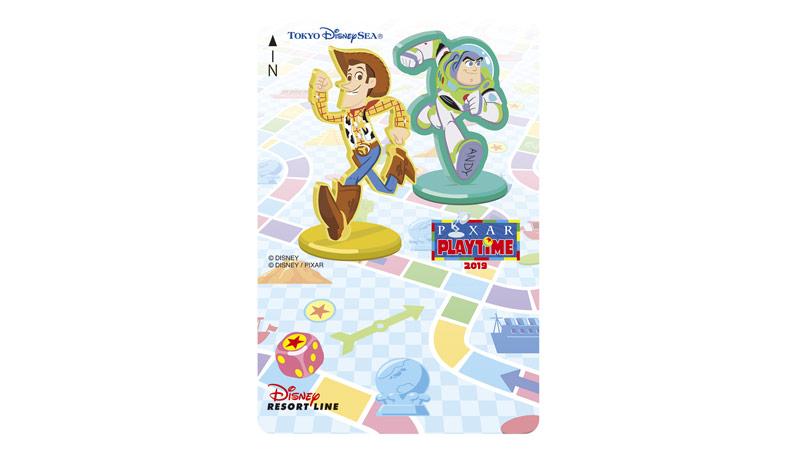 ディズニーリゾートラインでは、「ピクサー・プレイタイム」デザインのフリーきっぷを販売中です。(2019年1月7日~売り切れ次第終了)のイメージ