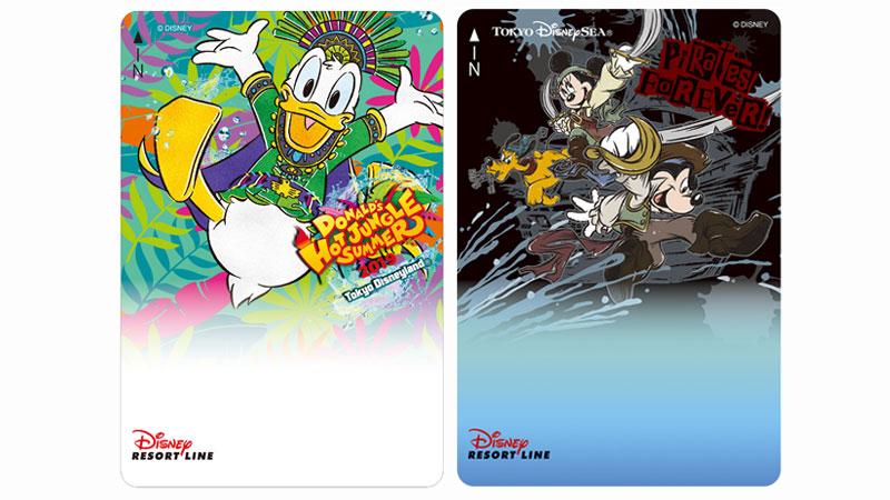 ディズニーリゾートラインでは、「ドナルドのホット・ジャングル・サマー」と「ディズニー・パイレーツ・サマー」デザインのフリーきっぷを販売中です。(2019年7月8日~)のイメージ