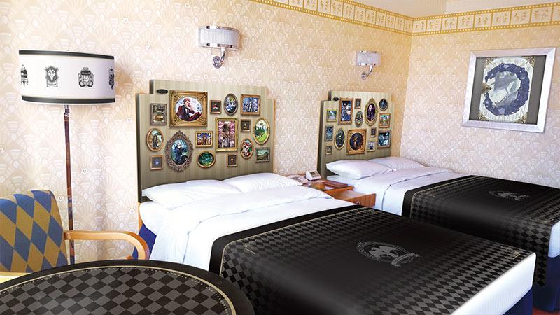 ディズニーアンバサダーホテルに『ディズニー ツイステッドワンダーランド』をテーマにした客室とケーキセットが期間限定で初登場のイメージ