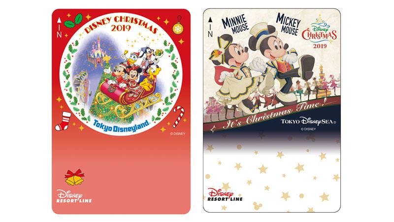 ディズニーリゾートラインでは、「ディズニー・クリスマス」デザインのフリーきっぷを販売中です。(2019年11月1日~)のイメージ