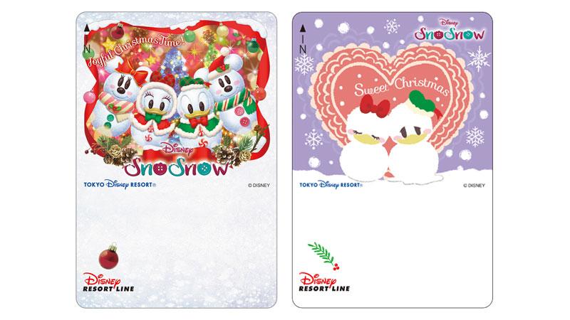 ディズニーリゾートラインでは、「ディズニー・クリスマス(SnoSnow)」デザインのフリーきっぷを販売中です。(2019年11月1日~)のイメージ