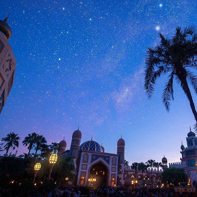ภาพ Why don't we travel to Arabian Coast?アラビアンコーストの夜空を飛んでみたい✨#arabiancoast #tokyodisneysea...