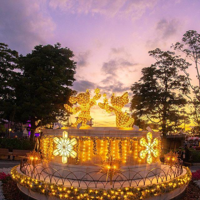 In sparkling Christmas lights.キラキラが降ってきそう…✨#disneychristmas #americanwaterfront...のイメージ
