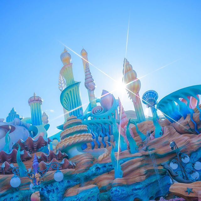 image of Let's start a new day!かがやく一日のスタート!#mermaidlagoon #tokyodisneysea #tokyodisneyresort...