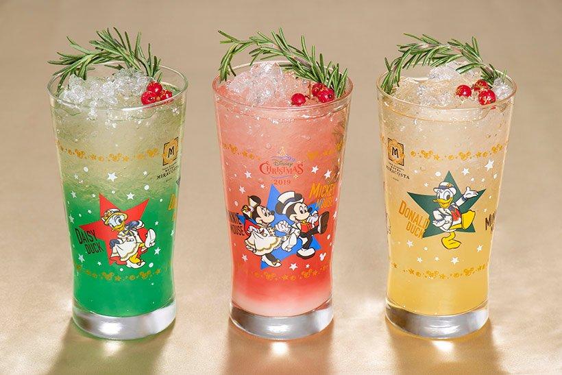 #東京ディズニーシーホテルミラコスタ では、レストランごとに味の異なるコレクタブルグラス付きのスペシャルドリンクを販売!!#イッツクリスマスタイム...のイメージ