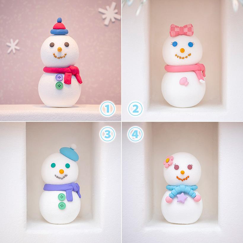 image of ダッフィーたちをイメージした雪だるま。みなさんはどれが誰をイメージしているのかわかりますか?答えは12月11日に♪ https://t.co/5WcQrVa9JG...