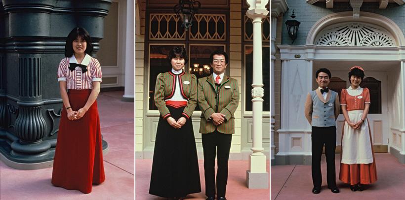 【クイズ!懐かしのコスチュームはどこの?】これから見ていただく3枚の写真は、東京ディズニーランド開園当初のコスチュームを着たキャストの写真です!どこのコスチュームを着ているの...のイメージ