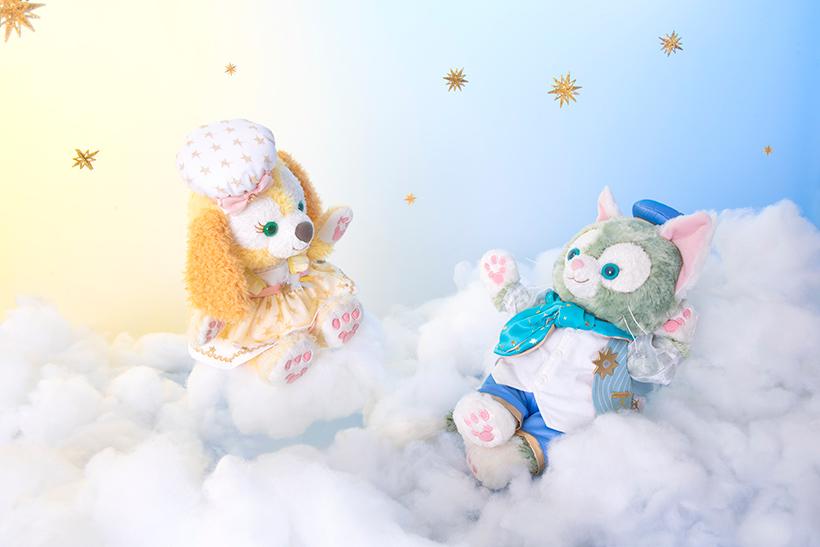 ふわふわの雲の上で、ジェラトーニとクッキー・アンはのんびり・・・♪ https://t.co/EhhecrZ0GI   #ダッフィーアンドフレンズのスターリードリームス...的圖像